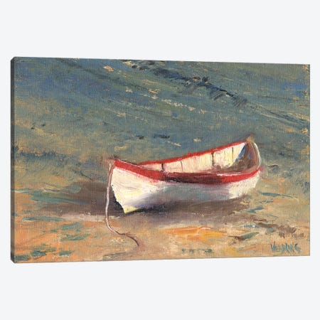 Beached Boat II Canvas Print #WEN31} by Marilyn Wendling Canvas Wall Art