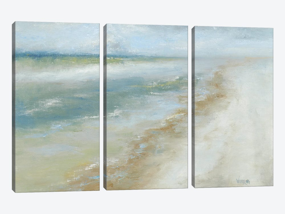 Ocean Walk II by Marilyn Wendling 3-piece Canvas Print