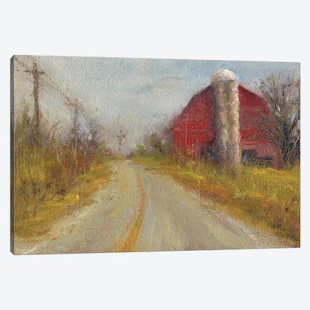 Country Silo Canvas Print #WEN3} by Marilyn Wendling Canvas Artwork