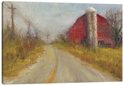 Country Silo Canvas Art Print