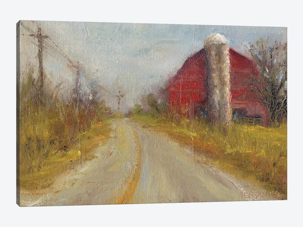 Country Silo by Marilyn Wendling 1-piece Canvas Wall Art