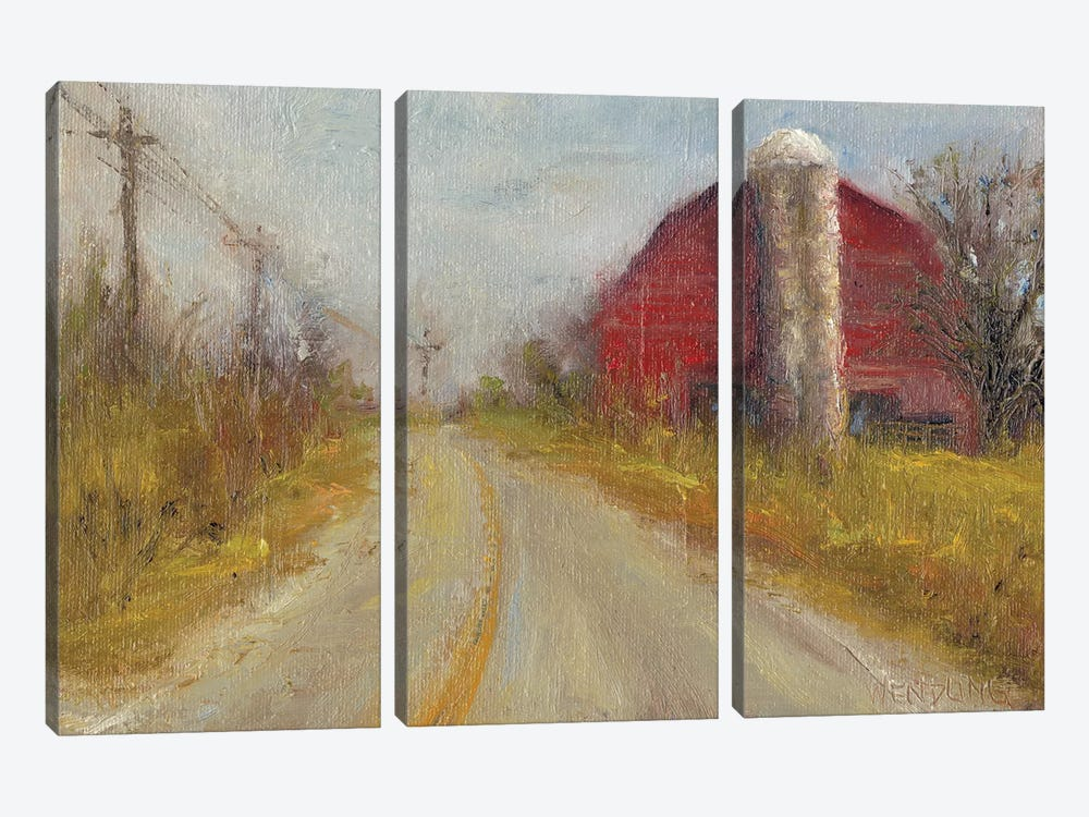 Country Silo by Marilyn Wendling 3-piece Canvas Art