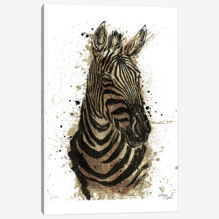 Gold Africa II In White Canvas Print #WES3} by Wellington Studio Canvas Art