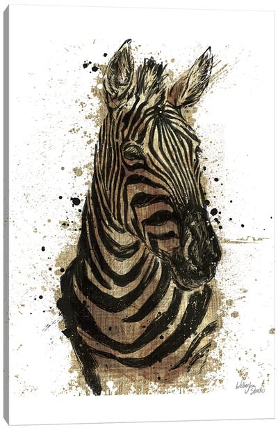 Gold Africa II In White Canvas Art Print