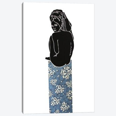Kate On Roses Canvas Print #WEY18} by Anja Weyer Art Print