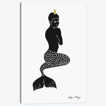 Mermaid Canvas Print #WEY21} by Anja Weyer Canvas Artwork