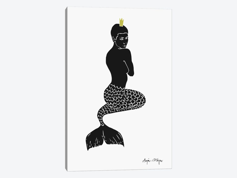 Mermaid by Anja Weyer 1-piece Canvas Wall Art