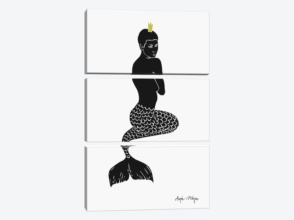 Mermaid by Anja Weyer 3-piece Canvas Art
