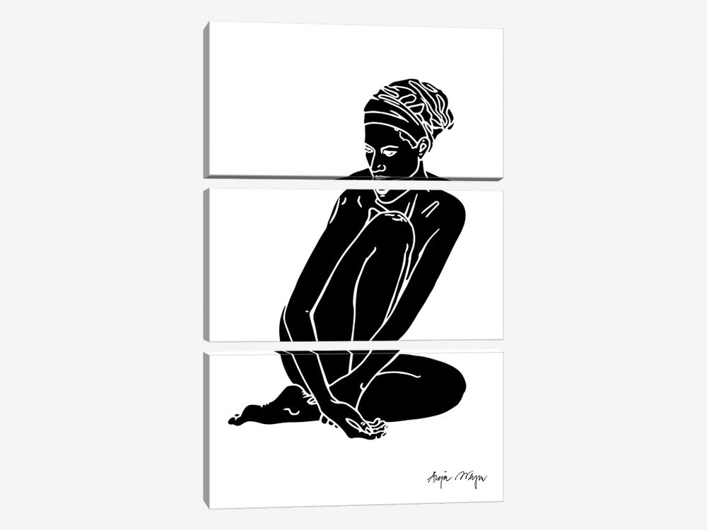 Christy II by Anja Weyer 3-piece Canvas Print