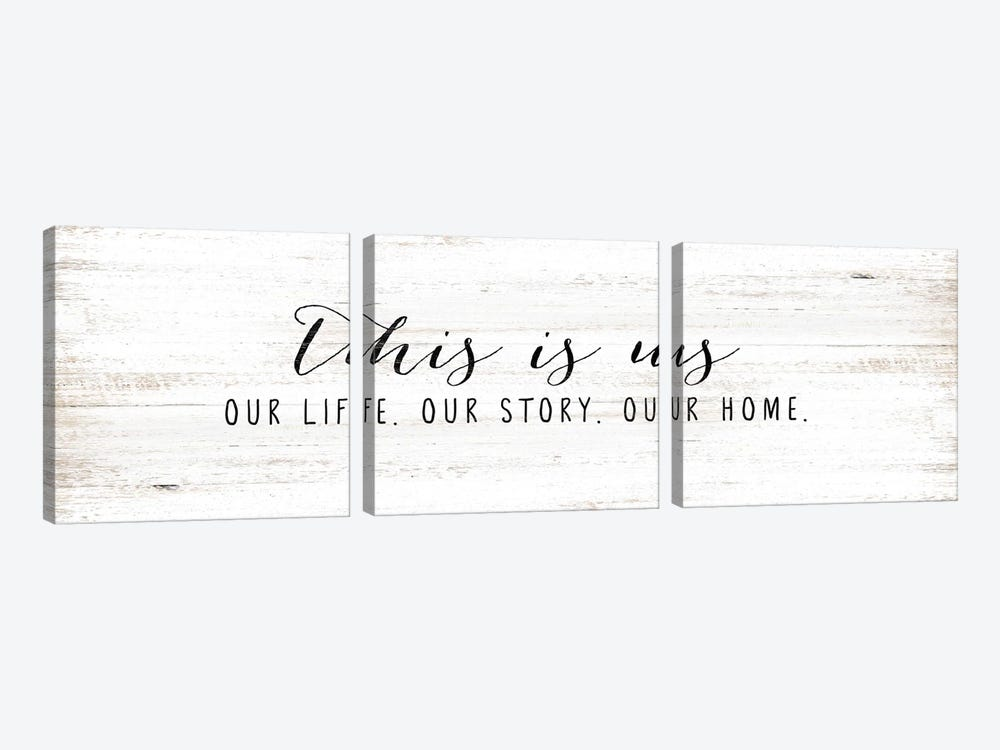 Our Life, Our Story, Our Home by White Ladder 3-piece Canvas Print
