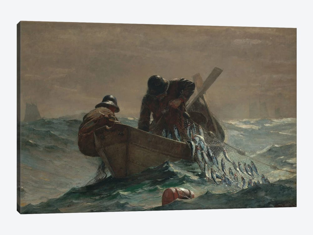 The Herring Net by Winslow Homer 1-piece Canvas Wall Art