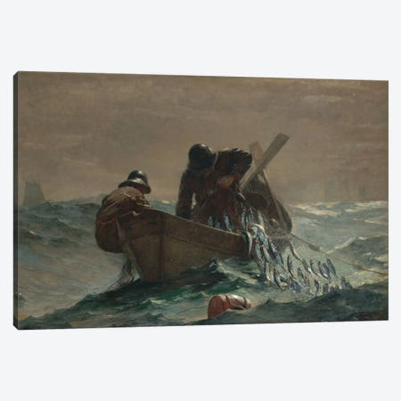 The Herring Net Canvas Print #WHO1} by Winslow Homer Canvas Wall Art