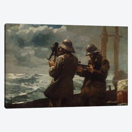 Eight Bells Canvas Print #WHO3} by Winslow Homer Canvas Artwork