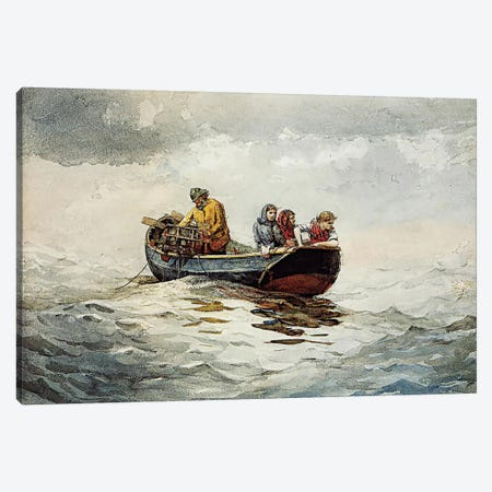 Crab Fishing Canvas Print #WHO4} by Winslow Homer Canvas Art Print