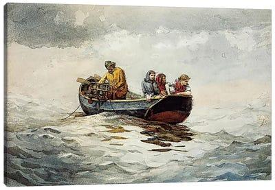 Crab Fishing Canvas Print #WHO4