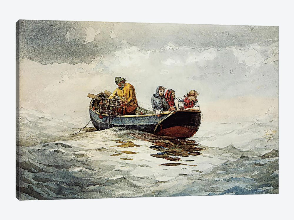 Crab Fishing by Winslow Homer 1-piece Canvas Print