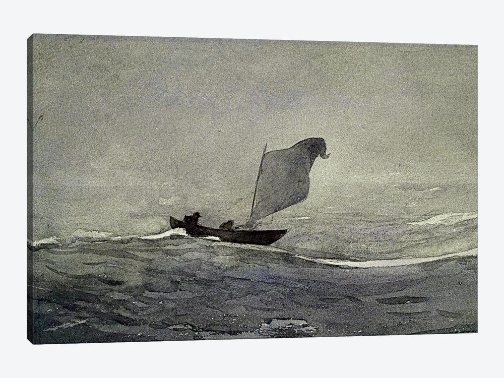 Blown Away by Winslow Homer 1-piece Canvas Art