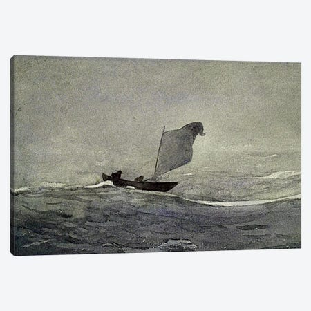 Blown Away Canvas Print #WHO5} by Winslow Homer Canvas Art Print