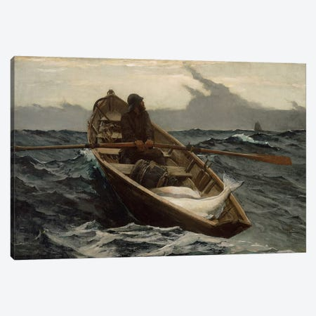 The Fog Warning Canvas Print #WHO6} by Winslow Homer Canvas Art Print