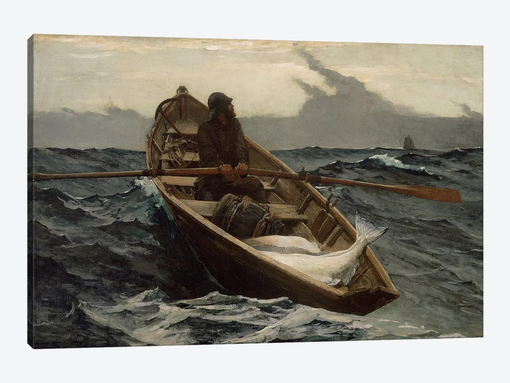 The Fog Warning by Winslow Homer 1-piece Canvas Art Print