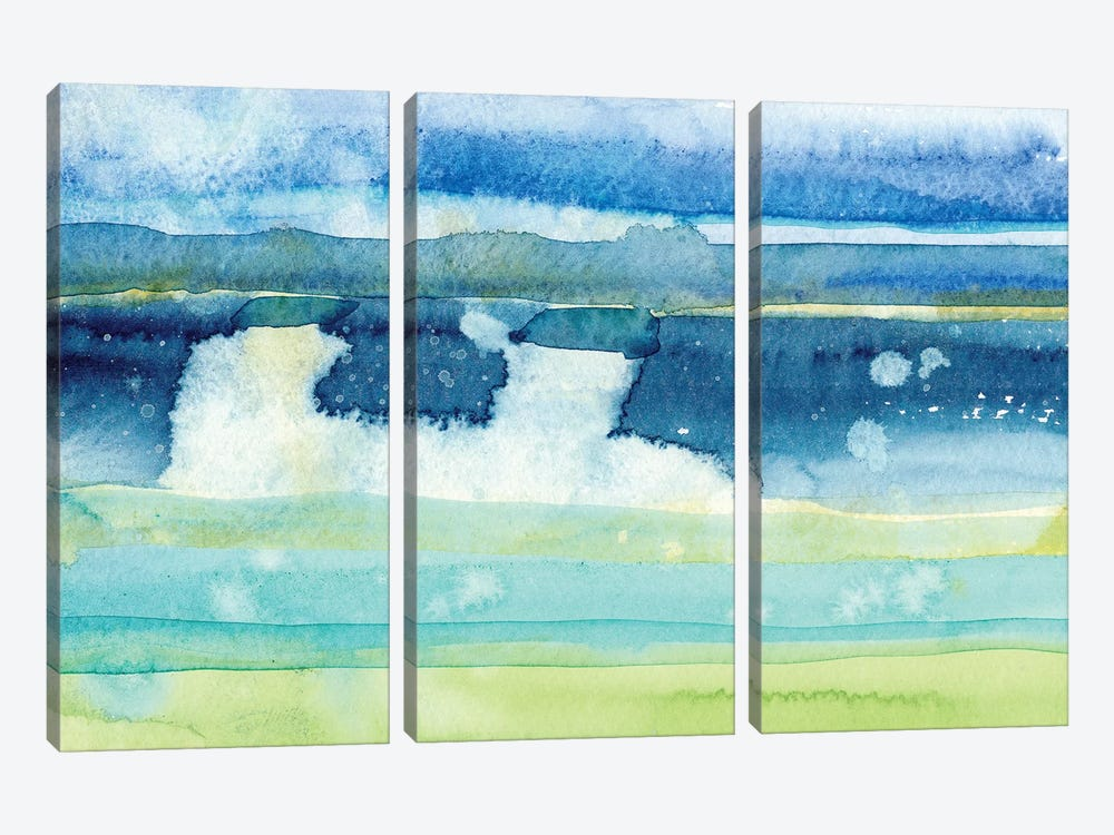 Gulf Shore I by Alicia Ludwig 3-piece Canvas Art
