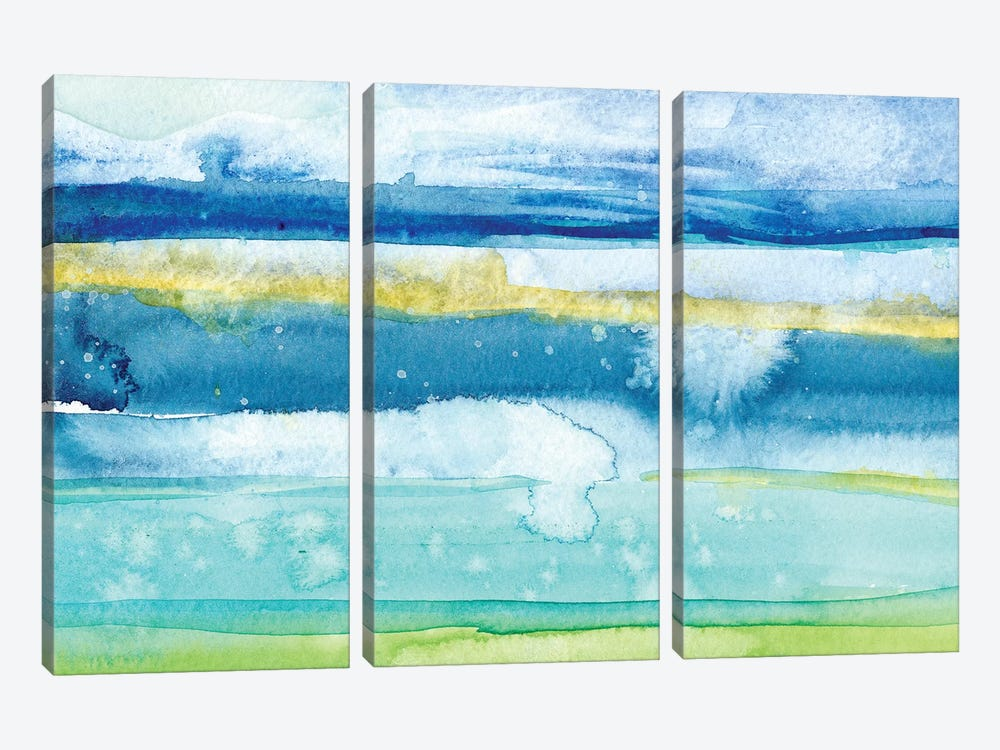 Gulf Shore II by Alicia Ludwig 3-piece Art Print