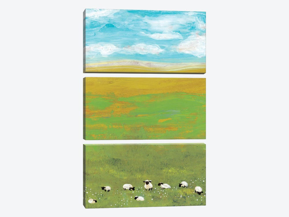 Herd II by Alicia Ludwig 3-piece Canvas Art Print