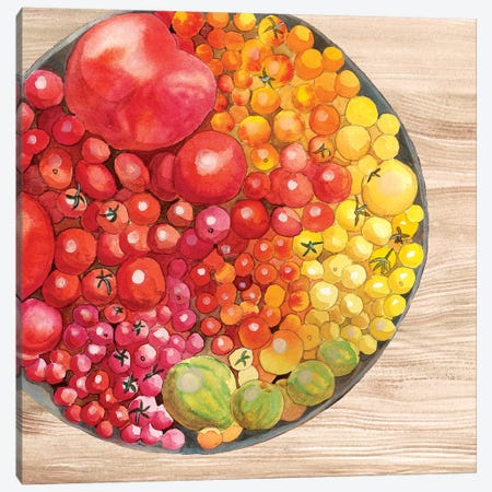 Bowls of Fruit I Canvas Print #WIG153} by Alicia Ludwig Canvas Artwork