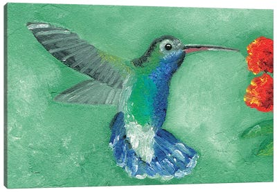 Fresco Hummingbird I Canvas Art Print
