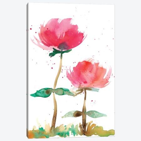 Pink Fleurs I 3-Piece Canvas #WIG162} by Alicia Ludwig Art Print