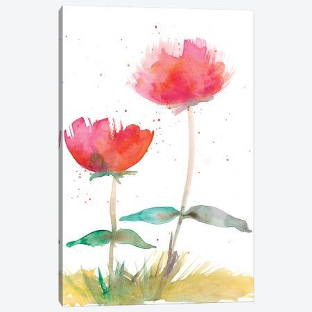 Pink Fleurs II 3-Piece Canvas #WIG163} by Alicia Ludwig Canvas Art Print