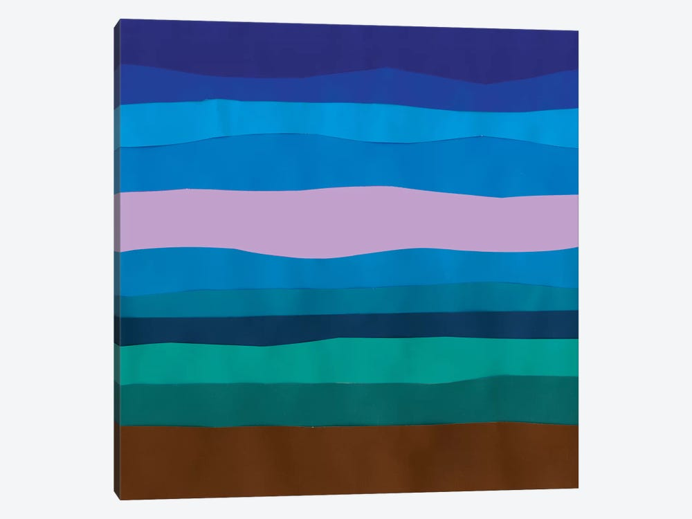 Blue Ridge Abstract II by Alicia Ludwig 1-piece Art Print