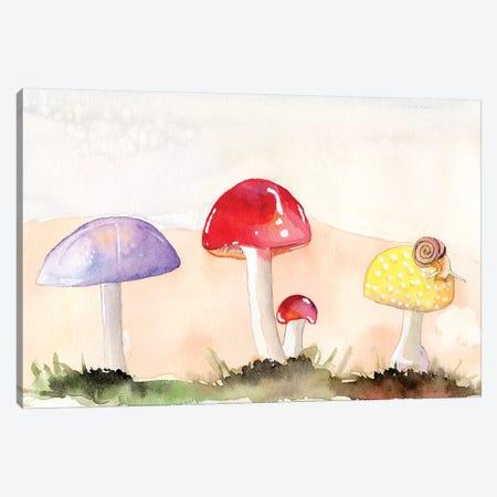 Faerie Mushrooms II 3-Piece Canvas #WIG176} by Alicia Ludwig Canvas Art Print