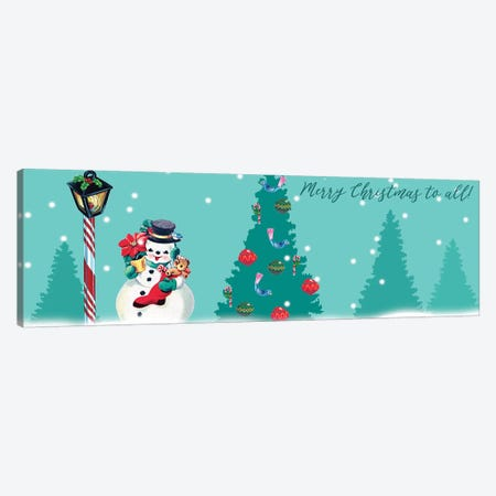 1955 Christmas Collection D 3-Piece Canvas #WIG189} by Alicia Ludwig Canvas Print