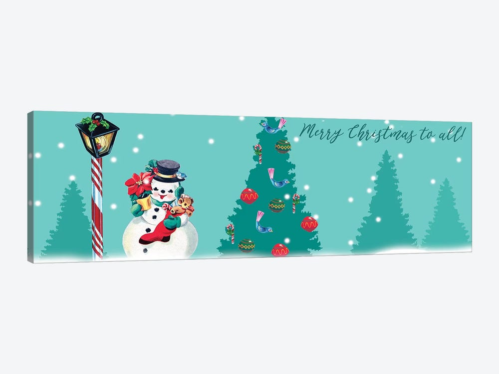 1955 Christmas Collection D by Alicia Ludwig 1-piece Canvas Art Print