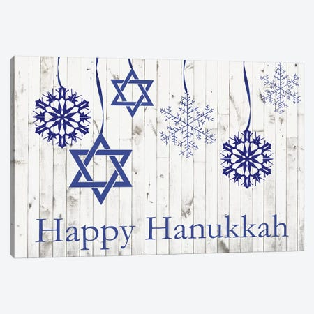Punny Hanukkah Collection A Canvas Print #WIG190} by Alicia Ludwig Canvas Artwork