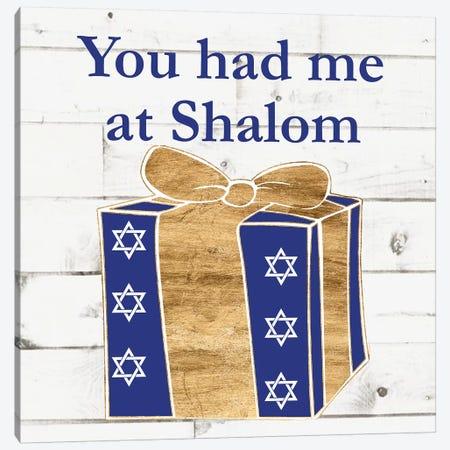 Punny Hanukkah Collection F 3-Piece Canvas #WIG195} by Alicia Ludwig Canvas Print