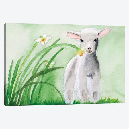 Baby Spring Animals IV Canvas Print #WIG201} by Alicia Ludwig Canvas Art