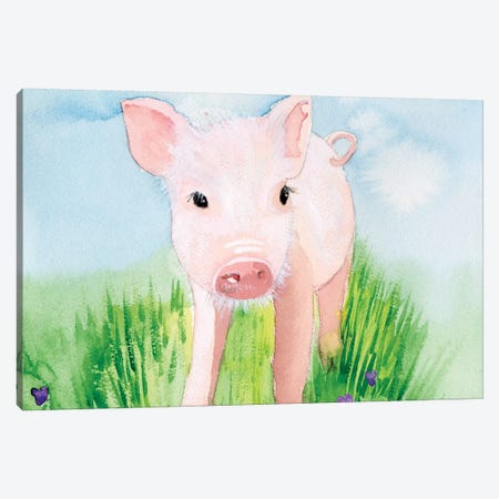 Baby Spring Animals V Canvas Print #WIG202} by Alicia Ludwig Canvas Wall Art