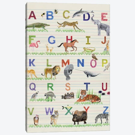 Alphabet Animals Canvas Print #WIG212} by Alicia Ludwig Art Print