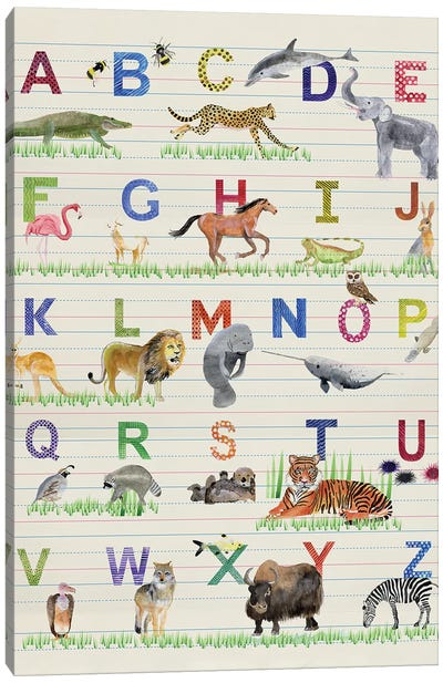 Alphabet Animals Canvas Art Print