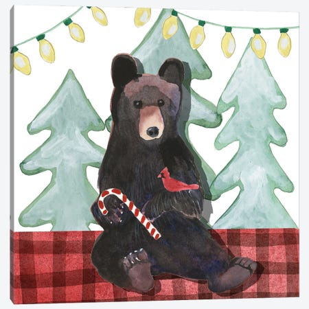 A Very Beary Christmas I 3-Piece Canvas #WIG231} by Alicia Ludwig Canvas Art Print