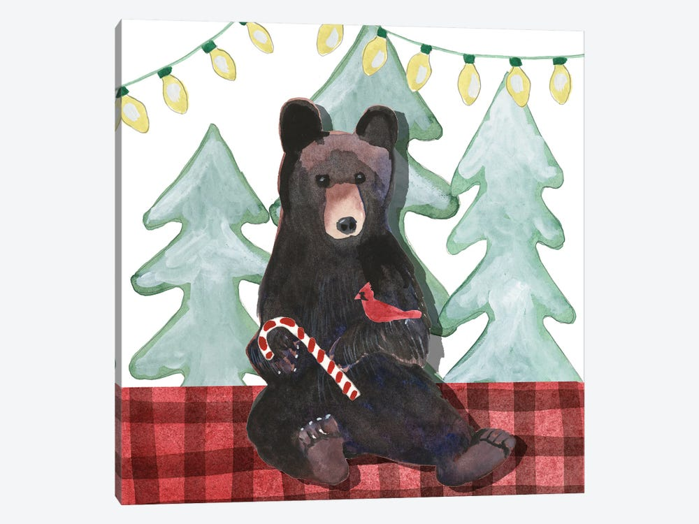 A Very Beary Christmas I by Alicia Ludwig 1-piece Canvas Art