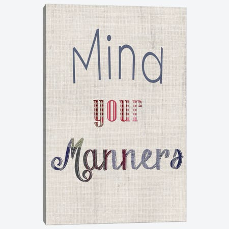 Manners IV Canvas Print #WIG26} by Alicia Ludwig Canvas Print