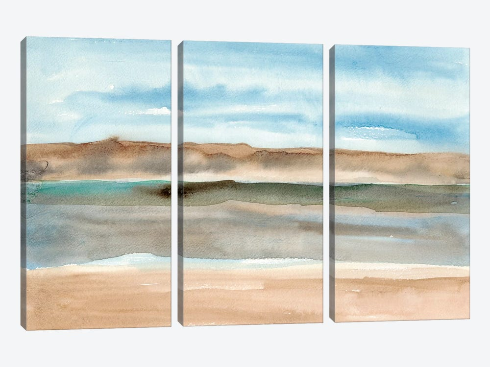 Plein Air Riverscape I 3-piece Canvas Art