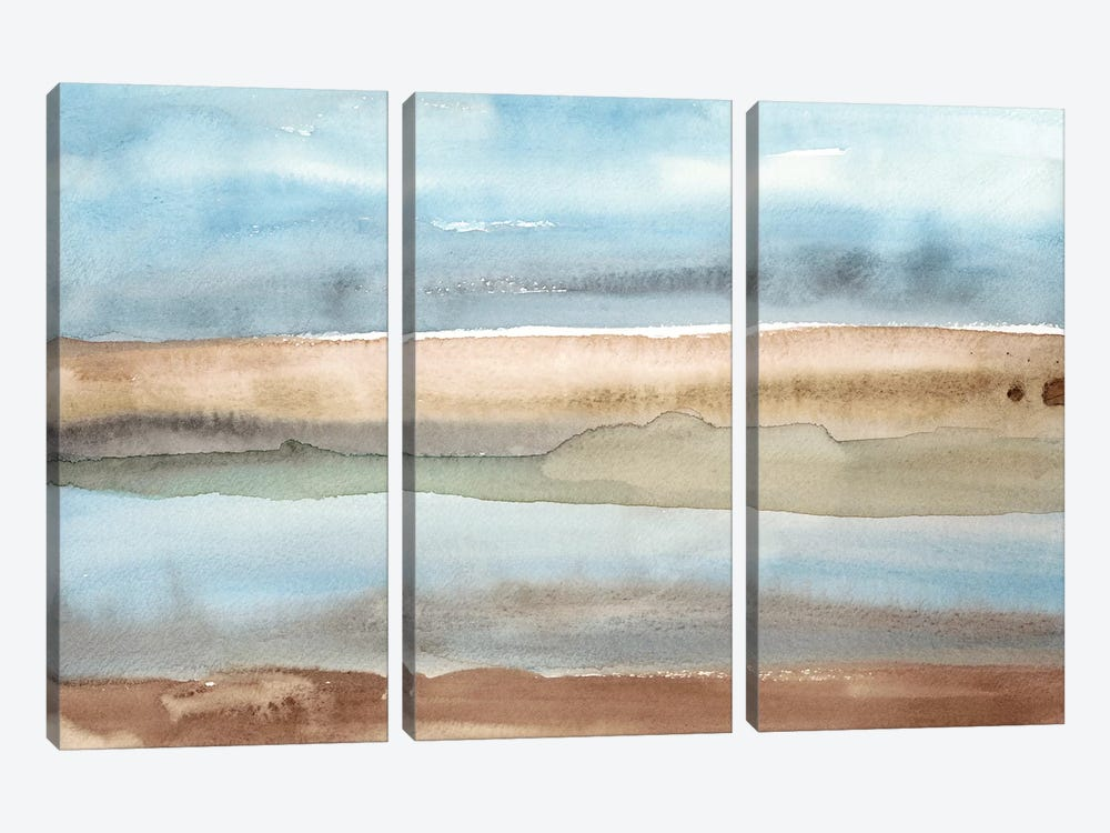 Plein Air Riverscape II by Alicia Ludwig 3-piece Canvas Print