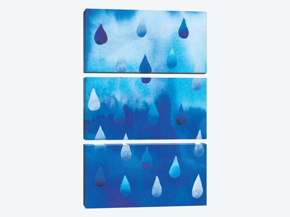 Drip Drop I by Alicia Ludwig 3-piece Canvas Print