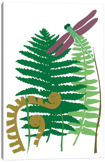 Fern Fantasy Garden II Canvas Art Print