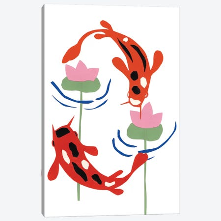 Koi Fantasy I Canvas Print #WIG68} by Alicia Ludwig Canvas Wall Art