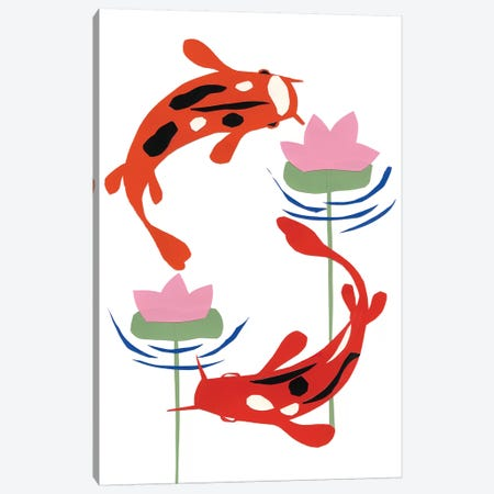 Koi Fantasy II Canvas Print #WIG69} by Alicia Ludwig Canvas Artwork